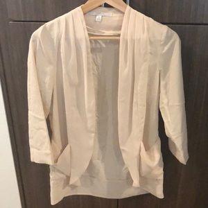 Thin light cream blazer- loose fit